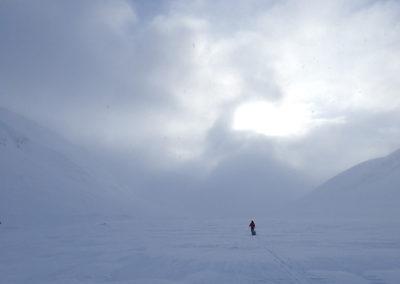 skieur solitaire
