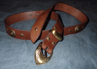 ceinture rivets déco