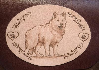 pyrogravure chien