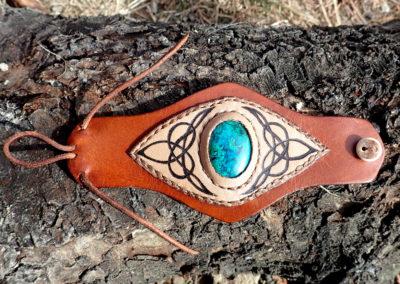 bracelet cuir pierre