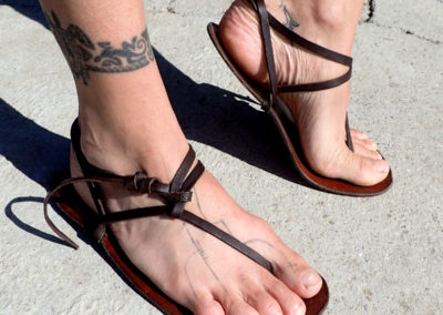 sandales cuir huaraches