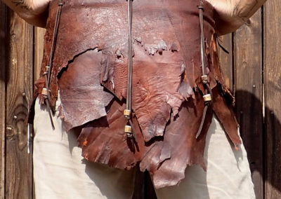 ceinture cuir bois de renne ethnique