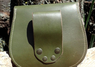 escarcelle cuir kaki