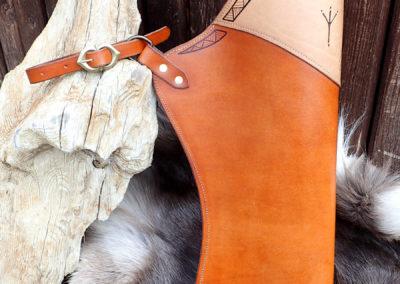 carquois cuir de ceinture pyrogravé