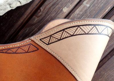 pyrogravure motif tribal