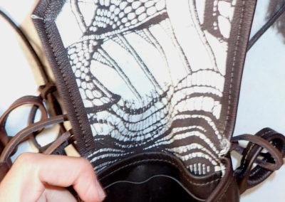 petite sacoche bandoulière doublée tissu