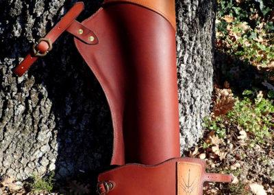 bracelet archer chasse pyrogravé carquois
