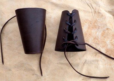 canon bras cuir viking médiéval artisanal
