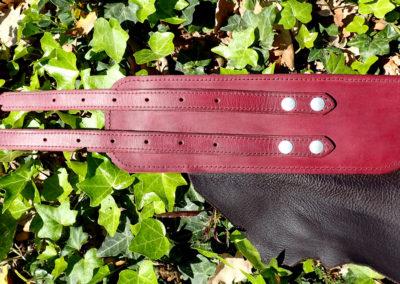 ceinture médiévale tribale cuir artisanale
