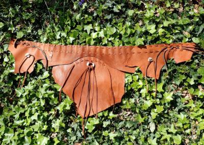ceinture cuir de renne artisanale tribale