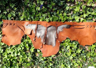 ceinture cuir de renne artisanale tribalel