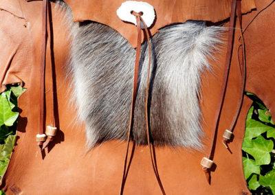 ceinture cuir de renne artisanale