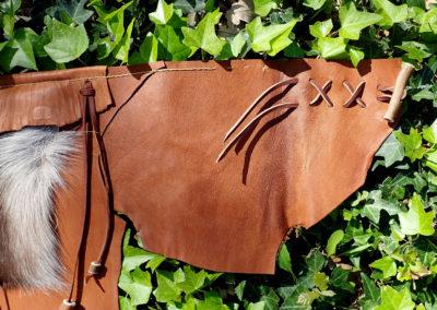 ceinture cuir de renne tribale