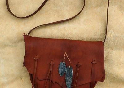 sac bandoulière cuir de renne artisanal