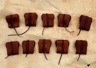 porte monnaie cuir de renne monnaie bijoux pierres