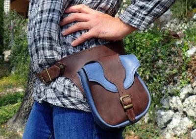ceinture cuir sacoches western artisanales