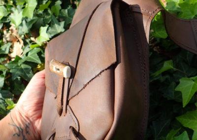 ceinture sacoches tribale cuir bois de renne