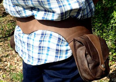 ceinture sacoches cuir