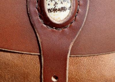escarcelles cuir médiévale jaspe