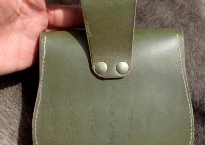 escarcelle pochette de ceinture cuir artisanale médiévale jaspe