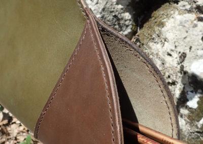 carquois cuir de ceinture artisanal