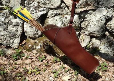Ocarquois chasse cuir de ceinture artisanal