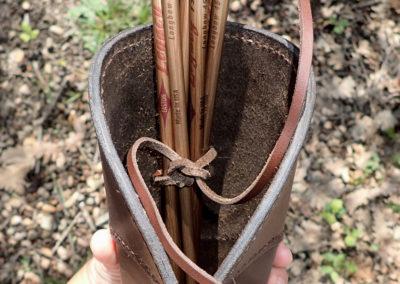 carquois chasse cuir de ceinture artisanal