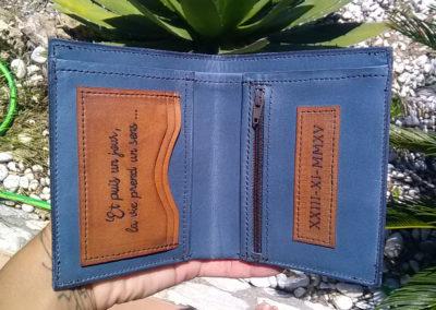 portefeuille cuir personnalisé
