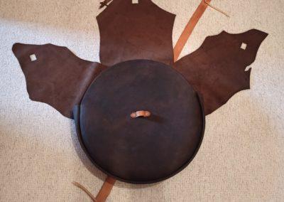 sac tambour chamanique cuir