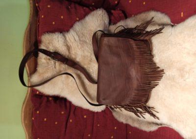 sac bandoulière cuir franges