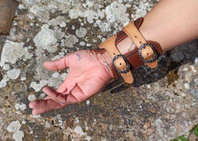 bracelet force cuir molletonné